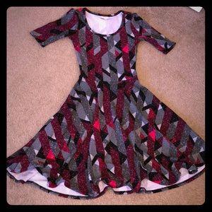 LuLaRoe Patterned Nicole Dress!